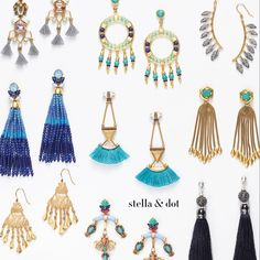 Ear Candy! Stella & Dot's newest collection for 2017 launches in JANUARY...kick off the year with COLOR!