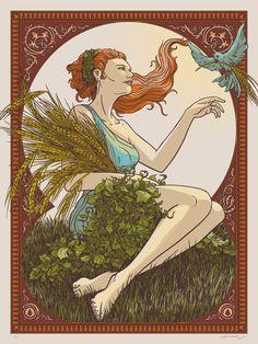 James Flames 'Goddess Of Beer & Hops' PrintAvailable - PostersandPrints - An Urban Street Art Blog - The Best Art Blog About Limited Edition Screen Prints, Urban Art, Graffiti