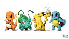 Pokemon Group by mysticalpha on DeviantArt Pokemon Comics, My Pokemon, Pokemon Charmander, Bulbasaur, Pokemon Fusion, Dc Comics, Confusion Matrix, Pokemon Starters, Pikachu Art