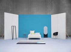 sylvain willenz: shapes mirrors for HAY with graphically designed two-toned reflections.