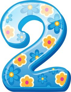 View album on Yandex. 2 Clipart, Free Clipart Images, 5th Birthday Party Ideas, Birthday Wishes, Festa Moana Baby, Blue Nose Friends, Printable Numbers, Number Two, Alphabet And Numbers