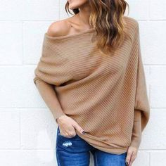 Sexy Brown Tan Off Shoulder Top Sweet Brown/Tan off shoulder sweater! Brand new, size Small Cotton Polyester B 20 W 16 L 22 Tops Fall Sweaters, Girls Sweaters, Sweater Coats, Sweaters For Women, Sweater Cardigan, Off Shoulder Sweater, Off Shoulder Tops, Sweater Fashion, Fashion Tips