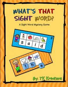 Whats that sight word? is an engaging way for your students to practice their sight words.These cards can be used as a center activity, small group setting, or independent practice.Students will write or place the beginning letter sound under each picture to reveal a sight word for each group of pictures.I aligned the words to meet my school districts word lists.