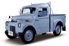1947 Tama Truck gasoline: This was launched in 1947 by the Tokyo Electric Cars Co. together with a sedan. Both truck and sedan were available in electric and gasoline versions.