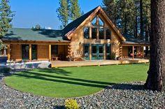 Chester, CA (#11026) | Real Log Homes since 1963 | Custom Log Homes | Log Home Floor Plans | Log Cabin Kits