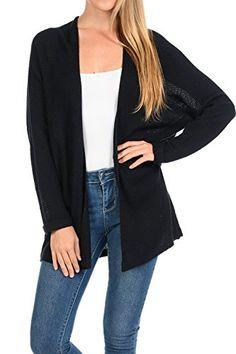 Women s Casual Open Front Loose Drape Knit Cardigan Sweater 62df047e8