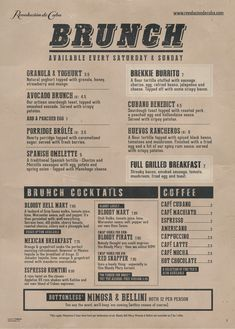 Graphic Design & Marketing Services Agency in Warrington, Cheshire. Menu Design, Print Design, Graphic Design, Menu Layout, Stuffed Jalapenos With Bacon, Brunch Menu, Cuba, Marketing, Cards