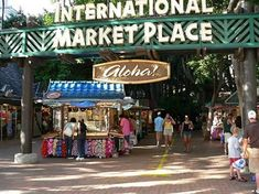 International Marketplace, Waikiki.  An upscale shopping mall is being planned to replace this island favorite.