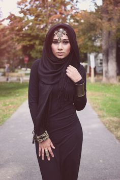 how to wear hijab for long face