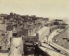 Francis Bedford - Part of Valetta from Upper Barracca, Malta, 1862