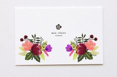 Check out Mini Bouquet for Name Card by felingpoh on Creative Market