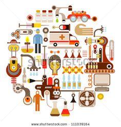 Illustration list of sciences courses