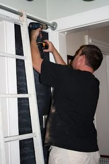 DIY instructions for building a sliding ladder--looks surprisingly simple!!