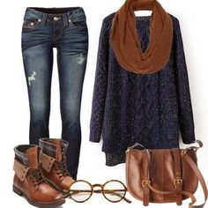 Classic comfort! Love everything from sweater to ... / FALL into WINT…