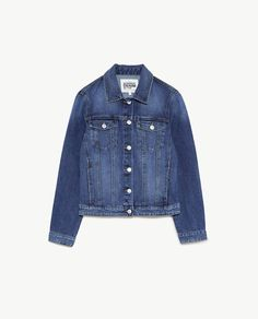 Image 8 of BASIC DENIM JACKET from Zara