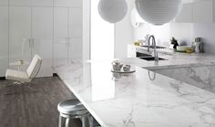 The big questions to ask yourself when you're remodeling your kitchen  Pictured: Formica® 180fx® Calacatta Marble in -90 gloss finish