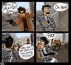 Fallout Comics, Fallout Funny, Fallout Fan Art, Fallout Posters, Gamer Humor, Gaming Memes, Video Games Funny, Funny Games, Fallout Cosplay