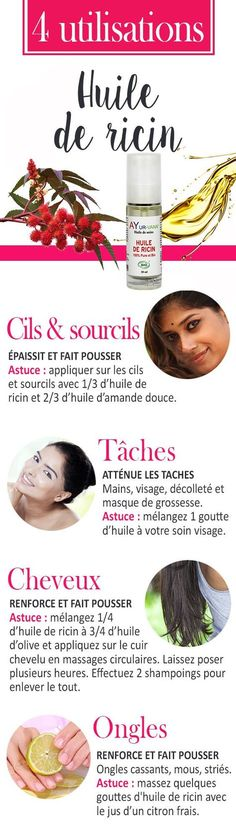 Natural Makeup Huile de ricin : utilisations et astuces - You only need to know some tricks to achieve a perfect image in a short time. Beauty Care, Diy Beauty, Beauty Hacks, Beauty Recipe, Castor Oil, Homemade Beauty, Skin Makeup, Healthy Tips, Beauty Secrets