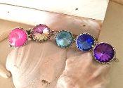 Swarovski Crystal Rivoli Silver Rings.  Yummy colors.  Champagne, red, bright pink, purple, blue, aquamarine. Diamonds!