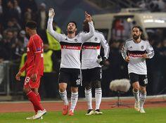 Tolgay Arslan of Besiktas JK celebrates after scoring