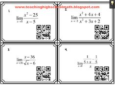 Teaching High School Math: Fun Calculus Activities for Limits
