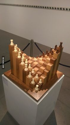Easy Carpentry Projects - I want to play this chess! Easy Carpentry Projects - Get A Lifetime Of Project Ideas and Inspiration! Cool Woodworking Projects, Woodworking Projects Diy, Fine Woodworking, Diy Wood Projects, Wood Crafts, Woodworking Quotes, Intarsia Woodworking, Woodworking Logo, Woodworking Workshop