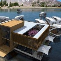 This amazing floating catamaran hotel concept, is the winner of the Millennium Yacht Design Awards.Images credit Salt & WaterThe floating hotel concept, created by Serbian yacht designers Salt & Water, allows guests to sail away. Yacht Design, Design Hotel, Floating Architecture, Cabinet D Architecture, Water Architecture, Water Mister, Floating Hotel, Hotel Concept, Private Yacht
