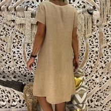 a41007ae7a Boho V-neck Loose Short Sleeve Mini Dresses