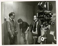 Jean-Luc Godard, Suzanne Schiffman et François Truffaut sur le tournage de Fahrenheit 451 (1966)