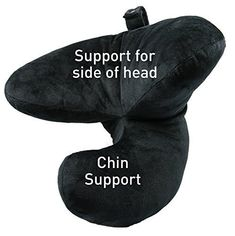 Amazon.com: J-pillow Travel Pillow, Complete Support for Head, Neck and Chin, Multi-Patented. British Invention of the Year. Best Neck Pillow for Airplanes. (Black): Home & Kitchen