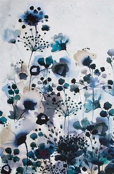 Moody Blue Watercolour Printed Canvas – Ellie Lane | Furniture & Decor for Coastal & Mountain Interiors