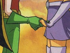 Robin and Starfire <3 I only ship them in this show. Sorry Dibs is better.