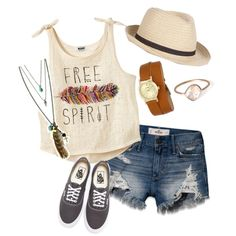 Free people by motivefashion on Polyvore featuring polyvore fashion style Vans Bulova Sole Society Hollister Co.