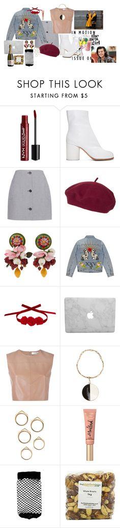 """""""Başlıksız #953"""" by suana123 on Polyvore featuring moda, NYX, Maison Margiela, Carven, Topshop, Dolce&Gabbana, Gucci, Vjera Vilicnik, Valentino ve Etro"""
