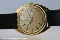 Omega Quartz Edelstahl / Gold mit Datum Elegante und markante Herrenarmbanduhr bei Jilemo-Juwel Neuer Wall 80 in 20354 Hamburg