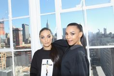 NEW YORK, NY - FEBRUARY 14: Models pose backstage at SheaMoisture at Laquan Smith F/W 2016 NYFW at Jack Studios on February 14, 2016 in New York City. (Photo by Bennett Raglin/Getty Images for SheaMoisture)