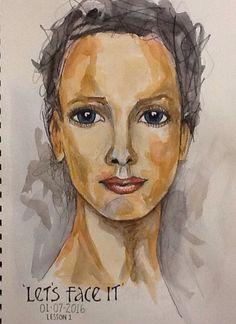 Deb Weiers - Watercolor Face                                                                                                                                                                                 More