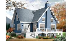 large a frame house plans small affordable chalet home plan 3 bedroom a frame cottage with mezzanine and large large a frame dog house plans Lake House Plans, Cottage House Plans, Small House Plans, Cottage Homes, Small Cottage Plans, Coastal Cottage, Cottage Style, A Frame Cabin, A Frame House