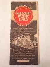 Vintage Ephemera: Train Time Table 1940 Missouri Pacific Lines Railroad Gulf
