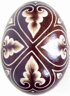 Karcolt tojás - Scratch-carved egg (40)