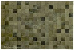 Patchwork Patterns, Patchwork Rugs, Cowhide Rugs, Cowhide Leather, Green Rugs, Color Of Life, Green Leather, Shades Of Green, Showroom
