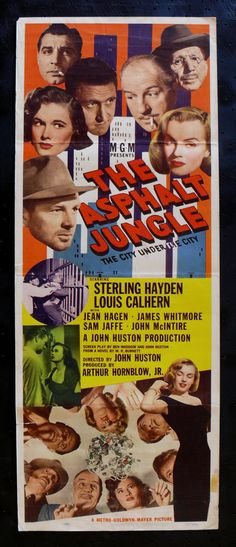 The Asphalt Jungle epitomizes not only film noir, in a number of ways, but also the sub-genre of the caper film. The  1950 film is great also because of deth and range of characters ....