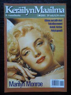 Keräilyn Maailma - May 2001, Finland. Front cover photo of Marilyn Monroe <3