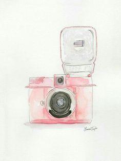 "More illustrations LINE BOTWIN ""girly illustrations"" Jujuba Doce: Imagens para emoldurar Pink Camera, Camera Art, Camera Life, Illustrations, Illustration Art, Watercolor Art, Giclee Print, Canvas Art, Gallery Wall"