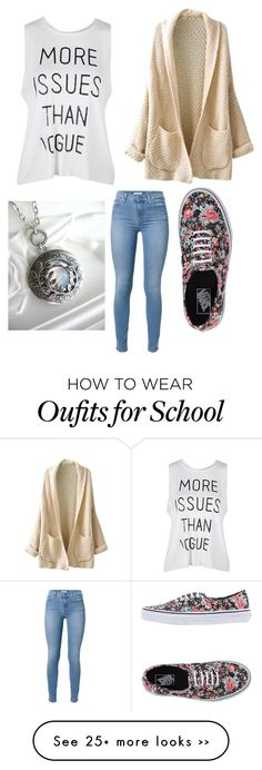 """""""Back to school"""" by cutiepie40166 on Polyvore featuring moda, Vans e 7 For All Mankind"""