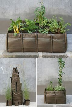 """""""I am going to make some of these I think, maybe lined with bubblewrap for over wintering"""" Small Garden Ideas #garden #gardening"""