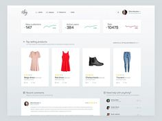 E-commerce dashboard for clothes shop. This is overview of all important things that you should know loggin into dashboard.  Best quality - https://vimeo.com/192422341  Hope you like it! (: Don't f...