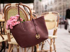 """Get hung up on the season's best hue—burgundy."" -xxMK #StyleTip"