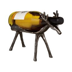You will positively love the Deer to the Rescue Wine Bottle Holder. Place this deer on your dining room table and watch delight spread across the faces of your guests. Whether it is a white or a red, t...  Find the Deer to the Rescue Wine Bottle Holder, as seen in the Rustic Holiday Entertaining Collection at http://dotandbo.com/collections/styleyourseason-rustic-holiday-entertaining?utm_source=pinterest&utm_medium=organic&db_sku=101541