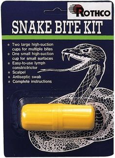 Snake Bite Kit - For Camping, Hiking, Survival & Emergency Situations